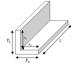 metal weight calculator - equal lenght L section beam