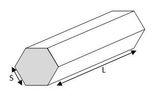metal weight calculator - hexagonal bar