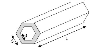 hexagonal pipe - metal weight calculator