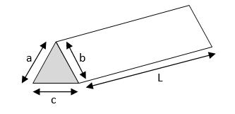 metal weight calculator - triangular bar