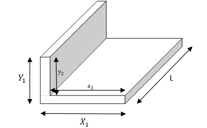 metal weight calculator - unequal L section beam